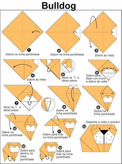 Diagrama de Origami de Bulldog