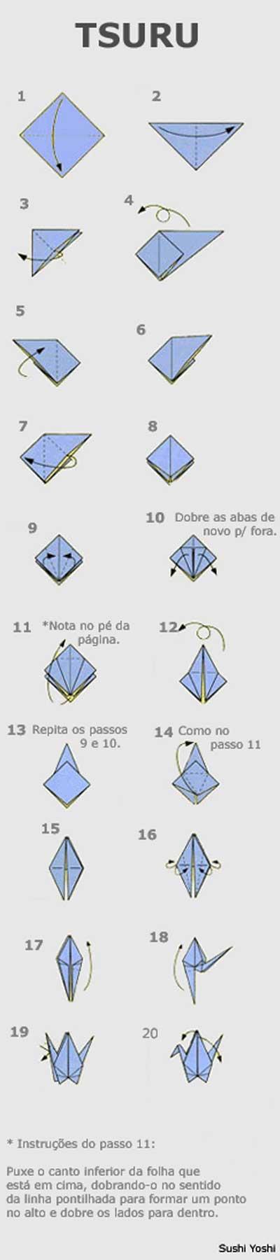 Diagrama de Origami de Tsuru