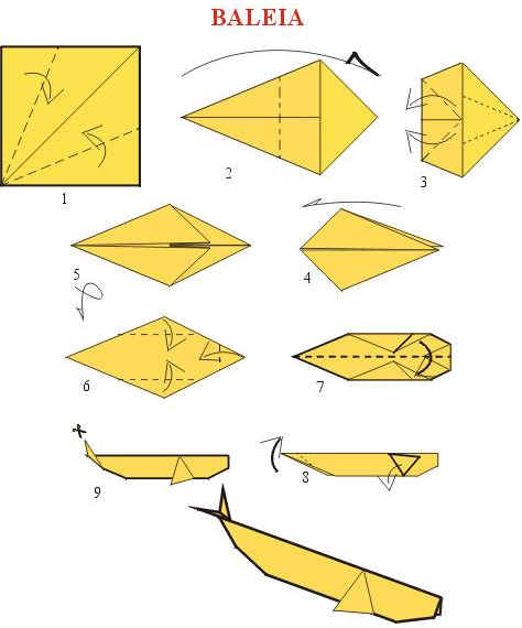 Origami de Baleia