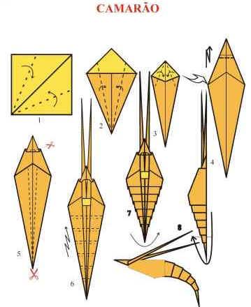 Origami de Camarão