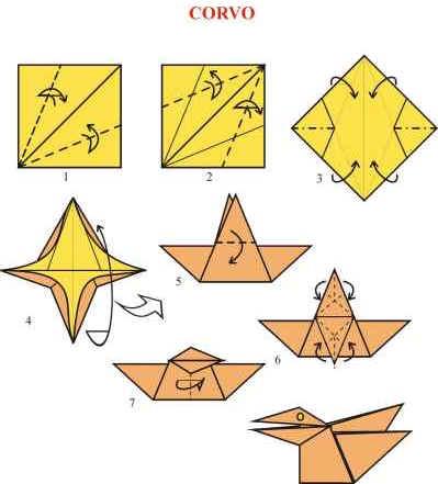 Origami de Corvo