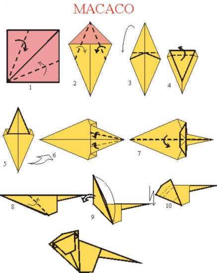 Origami de Macaco