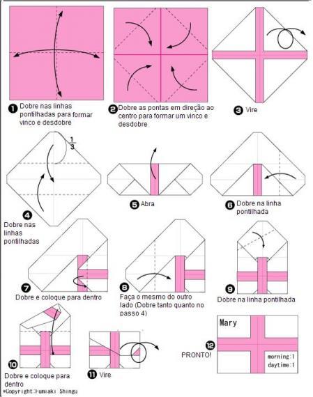 Origami de porta-medicamentos